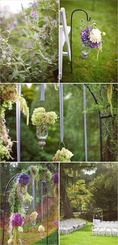 purple wedding alter - Click image to find more Weddings Pinterest pins