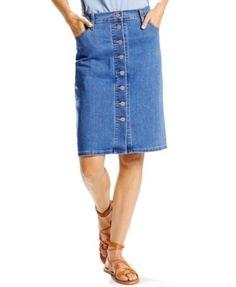 Levi's® Button-Front Denim Skirt Now $31.99    Orig. $54.50
