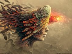 Lydia Anneli Bleth: Original painting by Tomasz Alen Kopera,   color e...