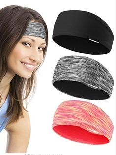 Running Headbands for Women (3 pack) – Absorbing Sweat Hair Bands for Yoga Fitness Sports Running,Elastic,Fits All Head Sizes and Under Helmets (3 Pack -1) promo code 50ZG23A9 End date: Jul 31 #offer #sale #deal #Discount