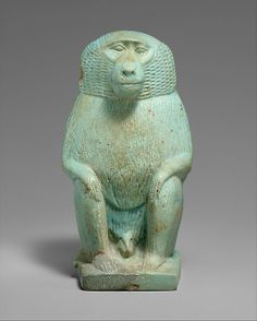 Figure of a Cynocephalus Ape  Period:     Late Period Dynasty:     Dynasty 26–29 Date:     664–380 B.C. Geography:     Country of O...