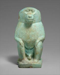Figure of a Cynocephalus Ape  664–380 B.C.  Egypt, Memphite region, Memphis (Mit Rahina)