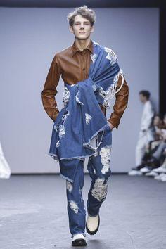 Xander Zhou Menswear Fall Winter 2015 London - NOWFASHION