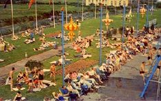 Butlins, Fun Fair, Outdoor Pool, Postcards, Dolores Park, Nostalgia, Pictures, Travel, Image