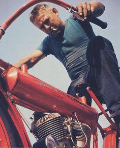 Steve McQueen on Motorcycle