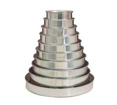 The 2 in Cake Pan Set from American Metalcraft is available from Tundra Restaurant Supply, as well as, other Cake Pans. Pie Pan, Loaf Pan, Cake Pan Sizes, American Metalcraft, Beautiful Desserts, Round Cake Pans, Pan Set, Candle Holders, Deep