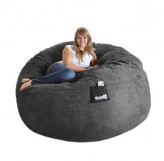 Bean Bag Bed Oversized Chairs Lining Fabric Cardboard S Sofa Foam Charcoal Couch Beanbag Chair