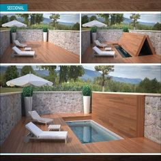 Of course, it's not often anymore that you find a plain, rectangular pool in the backyard. Most backyards have been designed around more interesting pool ideas. Small Swimming Pools, Small Pools, Swimming Pools Backyard, Swimming Pool Designs, Pool Spa, Backyard Pool Designs, Small Backyard Pools, Backyard Patio, Backyard Landscaping