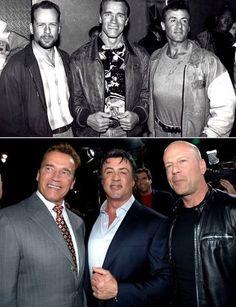 Arnold Schwarzenegger, Silvester Stallone, Bruce Willis