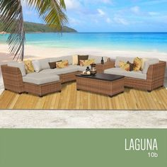 TKC Laguna 10 Piece Outdoor Wicker Patio Furniture Set ** Click the image to visit the Amazon website