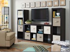 Better Homes and Gardens cube organizer. Can use for TV, bookshelf, storage-all…