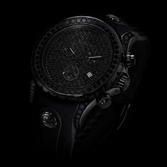 Black on Black diamond watch...can you see it? Exactly It's that black...  check ✔