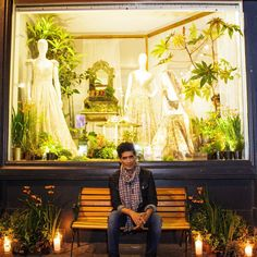 """""""#ZitaElze #floralartist window display showcasing the exquisite work of @manishmalhotra05 at the fabulous @aashniandco #fashion store in Notting Hill -…"""""""