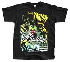 The Body Snatcher 1945 / Black T shirt HORROR / zombie BORIS KARLOFF BELA LUGOSI #FruitoftheLoom #BasicTee