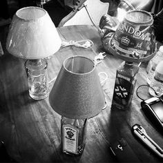 #lampspots #lightinspired #lamps #lights #reuse #recycle #diylamps #RRR #mercadomotores #museodelferrocarril #gin #bottle #soac by lampspots
