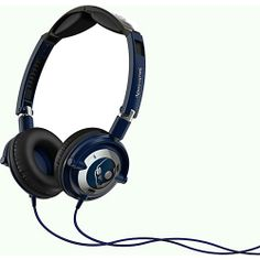 Skullcandy Lowrider Headphones Navy Chrome - Skullcandy Travel Electronics