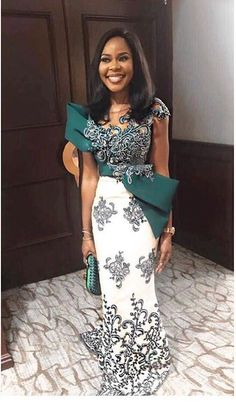 latest lace styles for ladies:Lovely and beautiful asoebi styles for just you African Lace Styles, African Lace Dresses, African Dresses For Women, African Attire, African Wear, African Fashion Dresses, Nigerian Lace Styles, Ghanaian Fashion, African Women