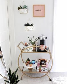 ♡ U ↠ ☾↞ // Tag your person(s) who you love to the moon & back Decor tips: Use bar carts in non-traditional ways like this espresso/plant cart. Use faux succulents for the hanging vases so you don't have to worry about it getting enough sun/watering. Just use moss around it to make it look real! ___________ #gypsytanHOME #coffeecart #barcart #cactuslover #liketkit @liketoknow.it #LTKunder50 #LTKsalealert #LTKhome http://liketk.it/2uBX0