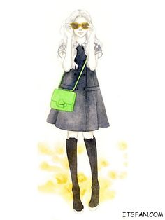 Teri Chung fashion illustration