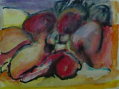 José Bernal - Title	 	Sketch for Still Life w/Mangos  	Work Date	 	2003  	Medium	 	mixed media on paper  	Size	 	h: 4.5 x w: 5.25 in / h: 11.43 x w: 13.34 cm  	Description	 	GIFT TO THE NATIONAL PARKINSON FOUNDATION