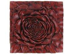 For my bedroom? Hobby Lobby- Red Flower Square Wall Plaque