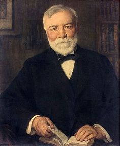 """""""Andrew Carnegie"""", n. / Francis Luis Mora / Brown University Portrait Collection, Providence, Rhode Island, USA The benefactor of many of this country's libraries. Andrew Carnegie, A4 Poster, Poster Prints, Famous People In History, People Reading, Carnegie Library, Vintage Artwork, American Artists, American History"""
