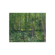 Trees and Undergrowth, c.1887 Wall Art Print ($16) ❤ liked on Polyvore featuring home, home decor, wall art, athletes, athletes by sport, baseball players, baseball players by name, celebrities by talent, entertainment and people
