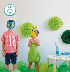 Animals kit (x12 kids) by Partyculars http://partyculars.net/product/animals-kit-by-partyculars/