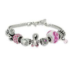 Breast Cancer Awareness Theme Oriana Bracelet $76 #October #BreastCancerAwareness
