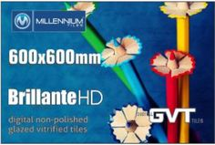 Millennium Tiles 600x600mm Brilliante HD Digital Glossy Series