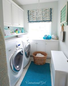 Okay, if you've seen my laundry room, you know I have a LONG way to go to get this look, but dreams are free!