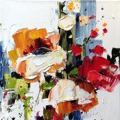 """Kimberly Kiel - Life & Nature I 18 x 18"""" oil/canvas"""