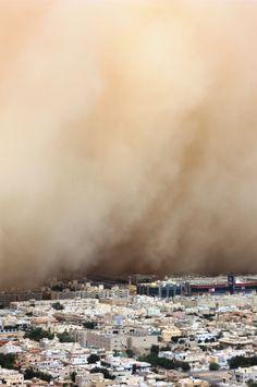 sandstorm in Riyadh