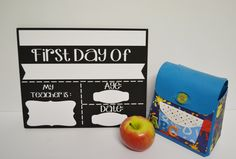 First Day of School/Back to School Wooden wipeable sign by MadePryor on Etsy First Day Of School, Back To School, One Day, My Teacher, Sign, Store, Handmade Gifts, Etsy, First Day Of Class