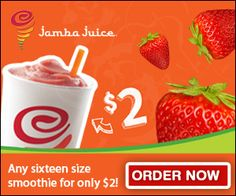 Jamba Juice Coupon for 2 Dollar Smoothies!