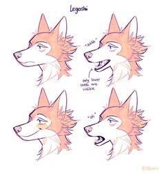 Animal Sketches, Animal Drawings, Cute Drawings, Art Sketches, Dog Drawings, Cartoon Drawings, Anime Furry, Furry Drawing, Drawing Base