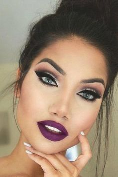 Trending Purple Lipstick Shades for 2018 ★ See more: http://glaminati.com/trending-purple-lipstick/