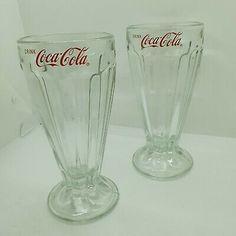 Milkshake Glasses, Ice Cream Glasses, Coca Cola Drink, Coca Cola Merchandise, Coca Cola Glasses, Christams Gifts, Always Coca Cola, Vintage Coke, Vases