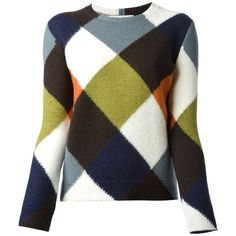Valentino Checked Sweater found on Polyvore