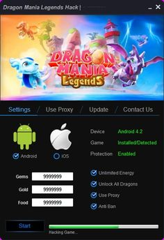 Download Dragon Mania Legends Hack Tool Cheats No Survey