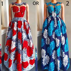 The ideal source for your afro chic life style and fashion site Ankara Maxi Dress, African Maxi Dresses, Latest African Fashion Dresses, African Attire, Ankara Fashion, Ankara Blouse, Ankara Tops, Maxi Skirts, Nigerian Dress Styles