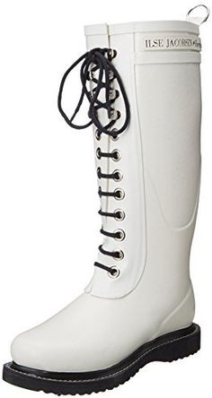 $84, White Rain Boots: Ilse Jacobsen Rub 1 Rain Boot. Sold by Amazon.com. Click for more info: http://lookastic.com/women/shop_items/146661/redirect