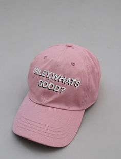 Image of miley whats good cap