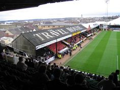 Stadium The Vetch in Swansea before the match Swansea City - Bristol Rovers 1-0 (06-11-2004). Nice view over the city and the prison just near the stadium.