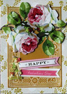 MEN LOOK Valentine Card handmade multi by YourHandmadeCrafts