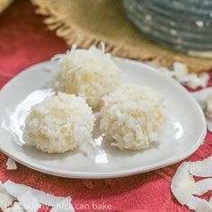Coconut White Chocolate Truffles | An easy, decadent 4 ingredient recipe #SundaySupper
