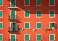 Ironic Illustrations by Davide Bonazzi – Inspiration Grid | Design Inspiration #illustration #drawing #editorial #witty #inspirationgrid