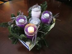 Most current Pics mason jar Advent Wreath Popular Many church buildings web host a Advent-wreath-making occurrence for the Thursday from the seaso Catholic Advent Wreath, Christmas Advent Wreath, Primitive Christmas, Christmas Time, Christmas Crafts, Christmas Decorations, Advent Wreaths, Holiday Decorating, Christmas Countdown