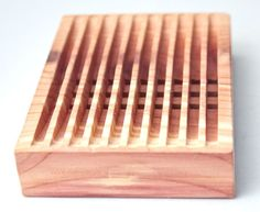 Bar  Natural Cedar Wooden Soap Dish by Edwood on Etsy, $10.00