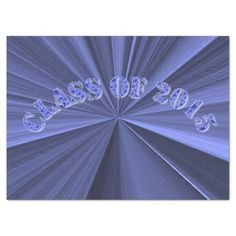 Class of 2015 Blue Custom Tissue Paper by Janz